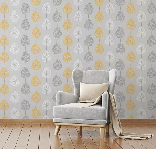 riva tree neutral yellow grey yellow bedroomsmustard - Grey And Yellow Bedroom