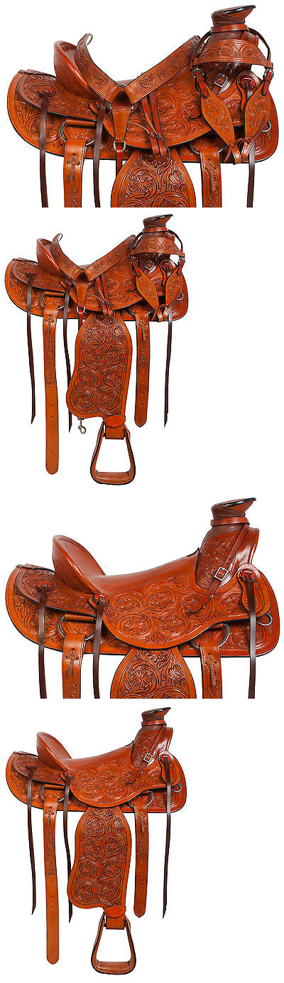 """Saddles 47291: 16"""" Western Pleasure Roping Ranch Work Cowboy Wade Horse Leather Saddle Tack -> BUY IT NOW ONLY: $379.99 on eBay!"""