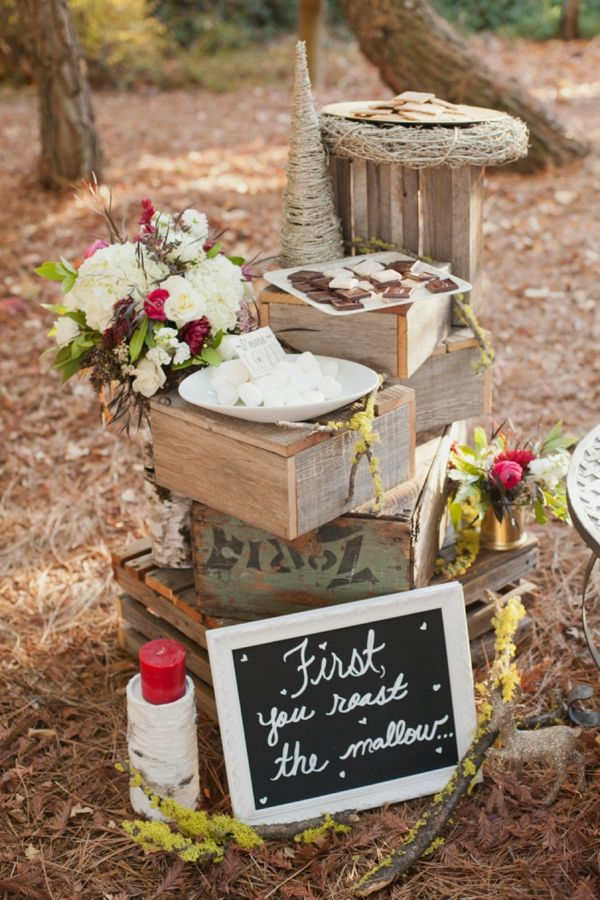 Rustic christmas wedding ideas smores station fall clothes rustic christmas wedding ideas smores station junglespirit Image collections