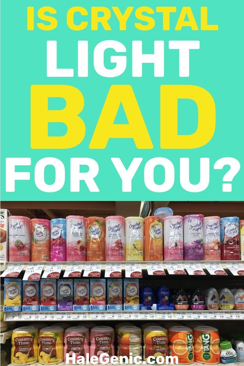 Is Crystal Light Bad For You Crystal Light Flavors Light Drinks Crystal Light Drinks