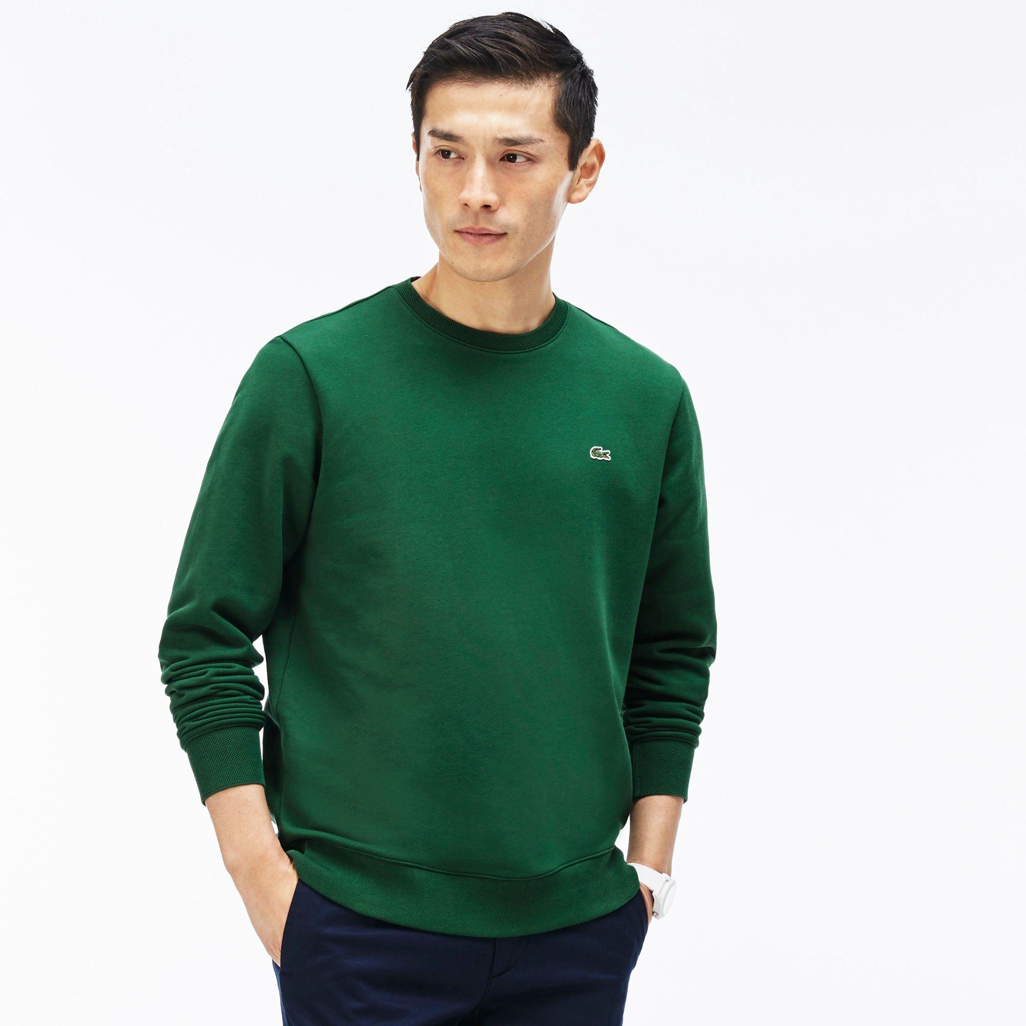 Lacoste Men S Fleece Sweatshirt Green Lacoste Cloth Lacoste Men Long Sleeve Tshirt Men Sweatshirt Fleece [ 2000 x 2000 Pixel ]