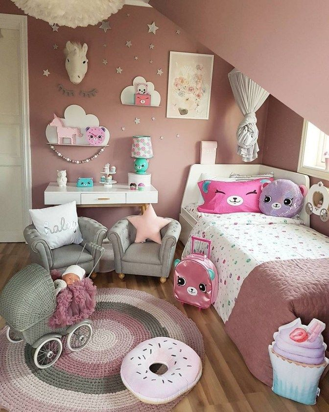 47 Lovely Girly Bedroom Design (With images) Diy kids