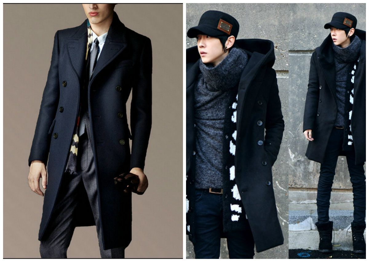 2 mens long trench coat in different colors | Jackets & Coats 4 ...