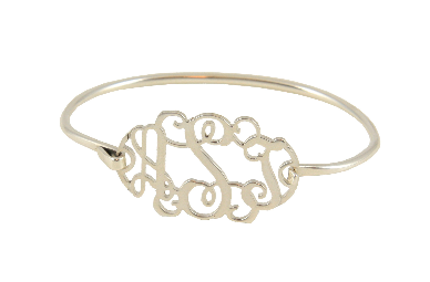 This Stunning Sterling Silver Filigree Monogram Bangle Bracelet Is A True Heirloom Piece The Clic Delicately Crafted Of Genuine