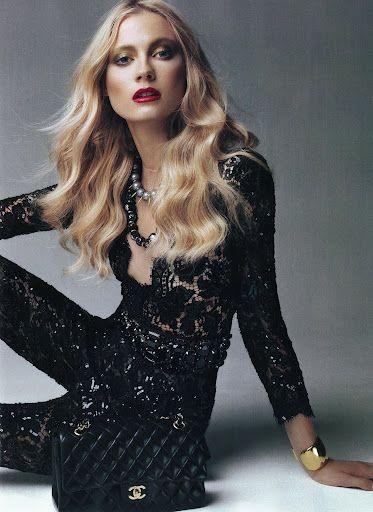 black lace, #chanel