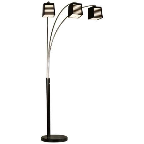 Nova Louver 3-Light Arc Floor Lamp -