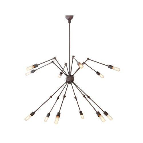 Eichholtz Spider Ceiling Light 12 - Light Bronze