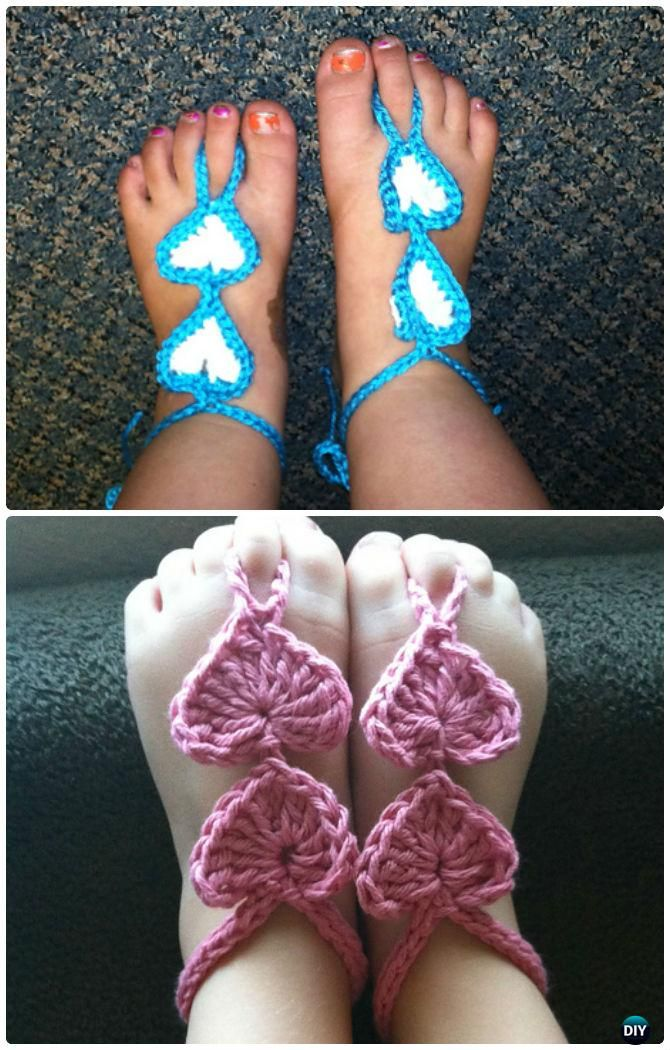 15 Crochet Barefoot Baby Sandals Free Patterns Crochet Baby Sandals Pattern Crochet Baby Sandals Crochet Baby Sweaters