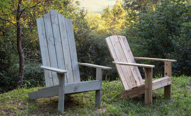 Comment construire un fauteuil de jardin avec du bois de r cup 39 fauteuils fauteuil adirondack Comment fabriquer fauteuil palette idees