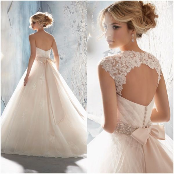 Lace Bow Wedding Gown