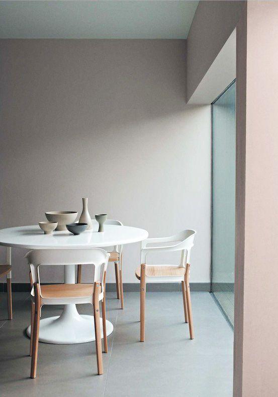 Peinture salle à manger couleur gris et tons naturels Wall colors