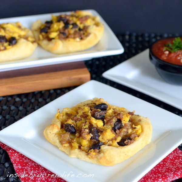 Taco Breakfast Boats | 29 Incredibly Easy Things You Can Make With Crescent Roll Dough