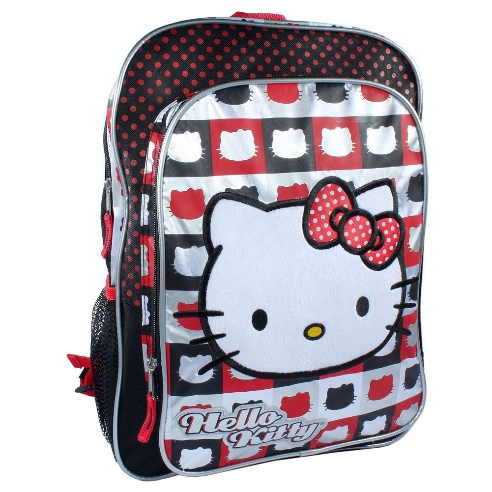 Hello kitty backpack red black and white