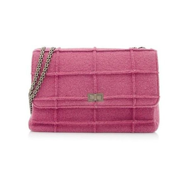 5c309298a7c2 Pre-Owned Chanel Wool Mademoiselle Reissue Jumbo Flap Bag ($1,695) ❤ liked  on