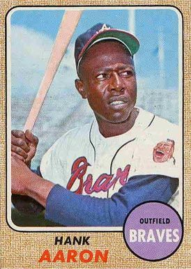 1968 Topps Hank Aaron 110 Baseball Card Value Price Guide
