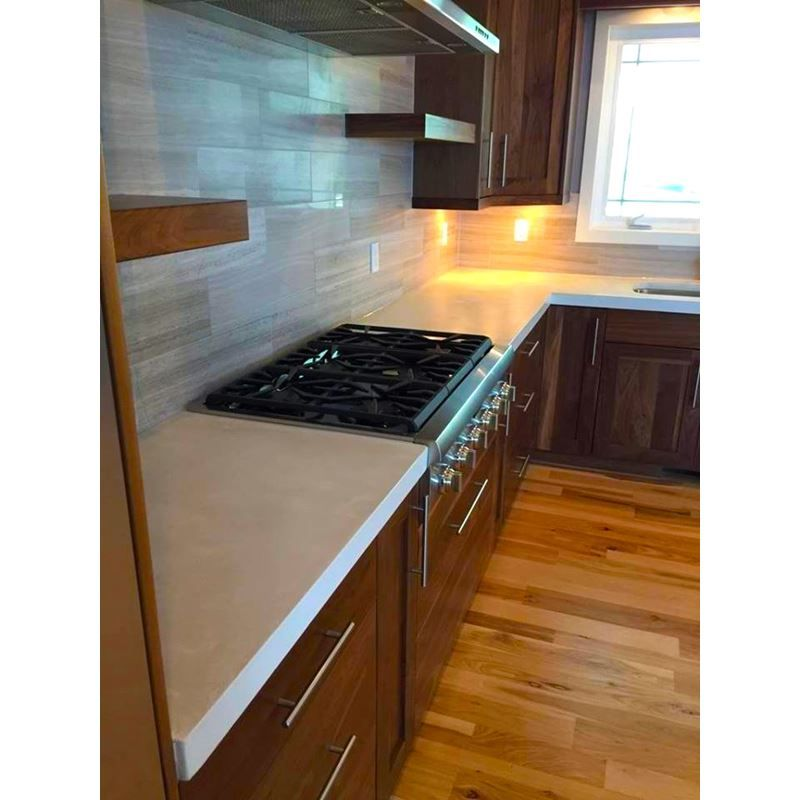 Edge Form To Create Diy Concrete Countertops Kitchen Remodel Countertops Countertops Concrete Countertops