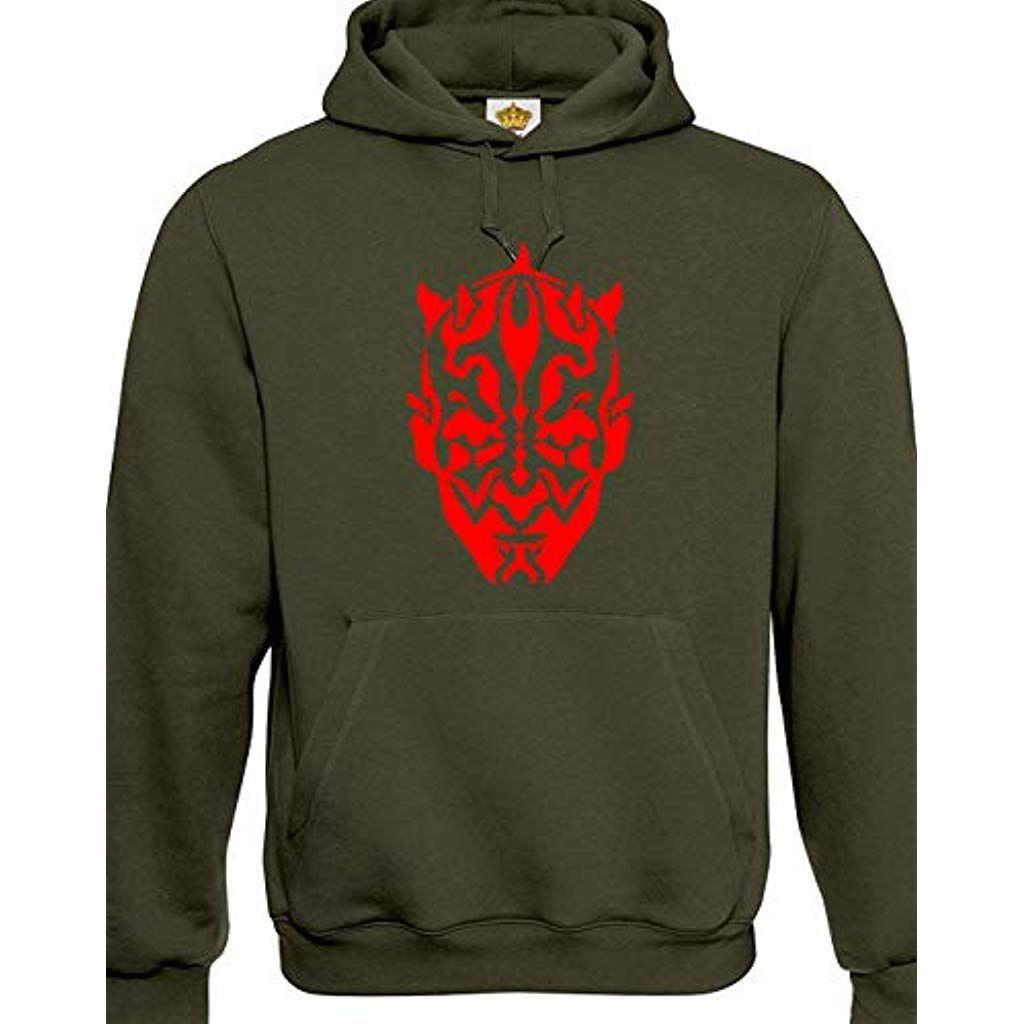 Crown Designs Darth Maul Silhoette Sci Fi Movie Film Inspired Gift Unisex Hoodies for Men Women Teenagers CardigansSweatshirts