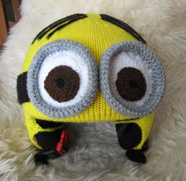 330d9f5cc2f Cute Funny Minions Ski Helmet Cover from Strick und stick by DaWanda ...