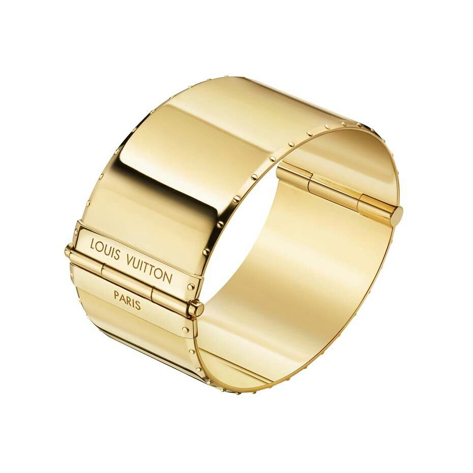Louis vuitton emprise gold cuff bracelet for the wrist