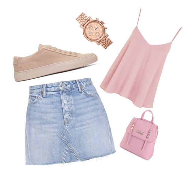 """""""Sin título #12"""" by eliruiz-1 on Polyvore featuring moda, Common Projects, Topshop, GRLFRND y FOSSIL"""