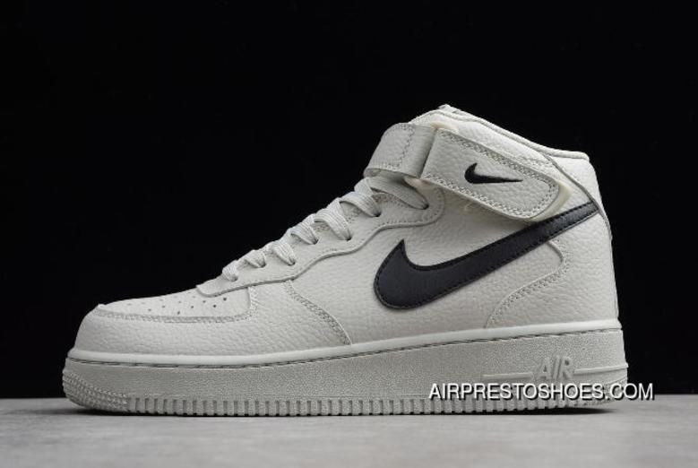 new concept b585c e4674 Latest Men s And Women s Nike Air Force One Mid  07 Light Bone Black