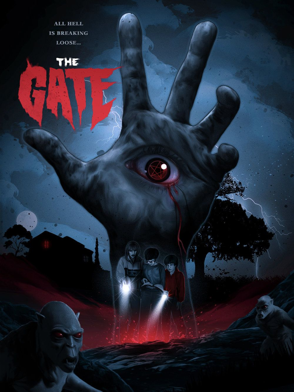 The Gate (1987) [1000 x 1333] Horror movie art, Scary
