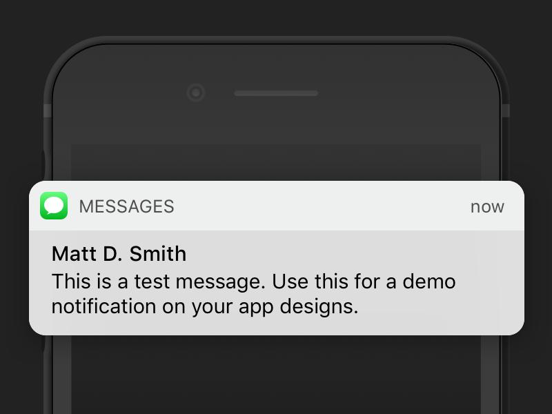 Ios 10 Message Notification