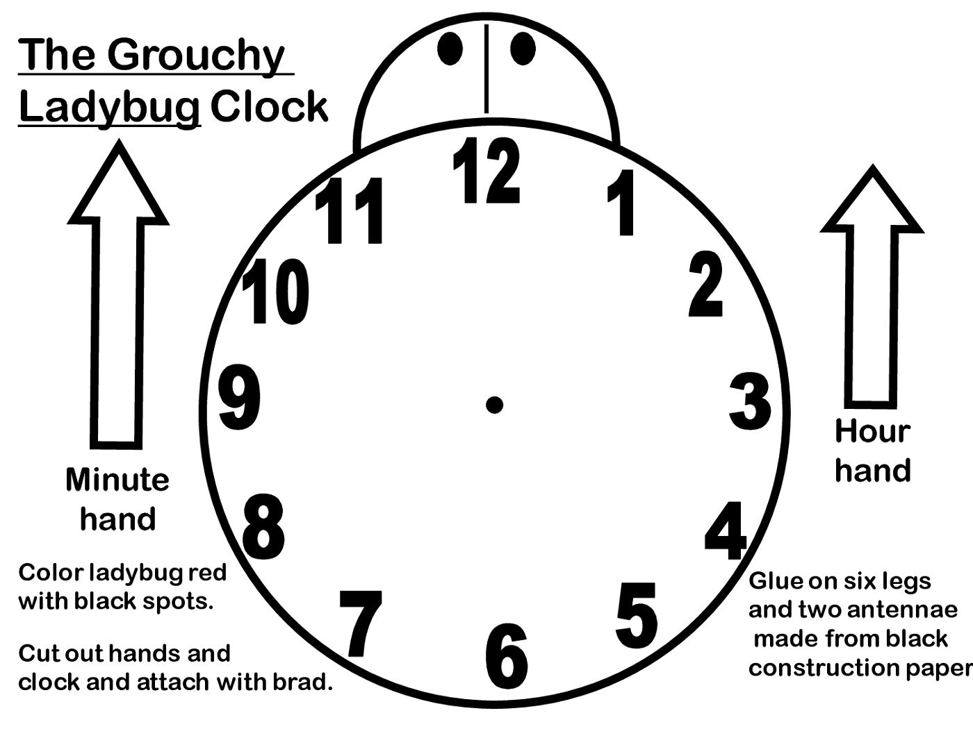 Blank Clock Faces Templates