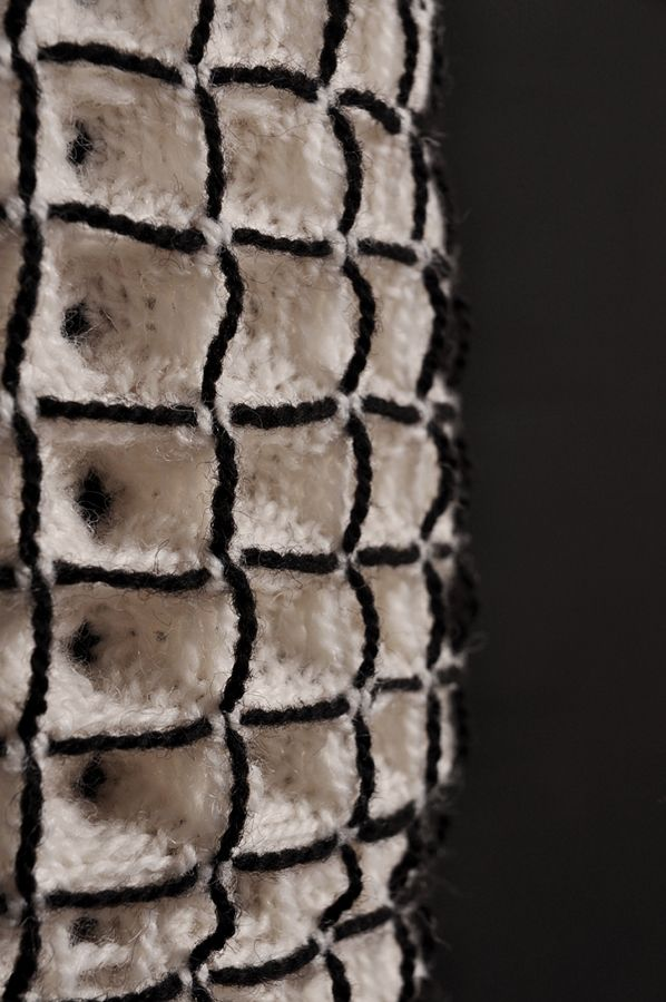 Woven Textile Design with 3D structural pattern; weaving; architectural textiles // Sophia Borowska