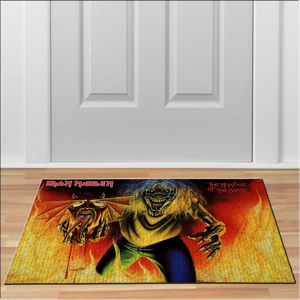 cool iron maiden the number of the beast Doormat Rock Heavy Metal ...