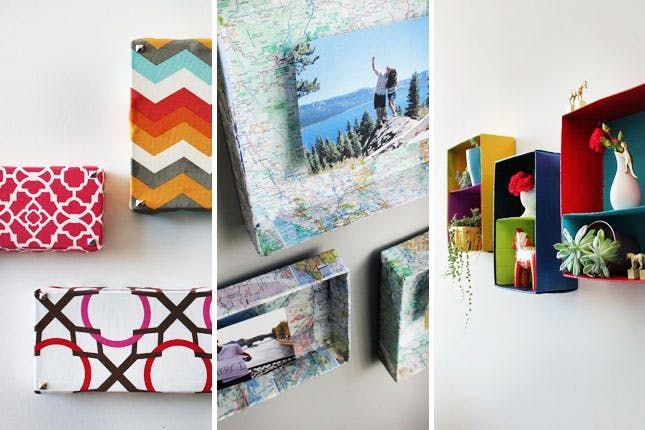3 Clever Ways To Turn Shoeboxes Into Wall Art Shoe Box Diy Diy Wall Decor Shoe Box Crafts