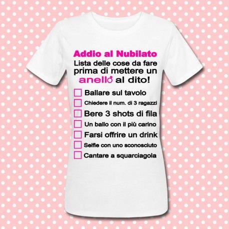 Idee Regalo Per Addio Al Nubilato.T Shirt Gioco Per Addio Al Nubilato Lista Delle Cose Da