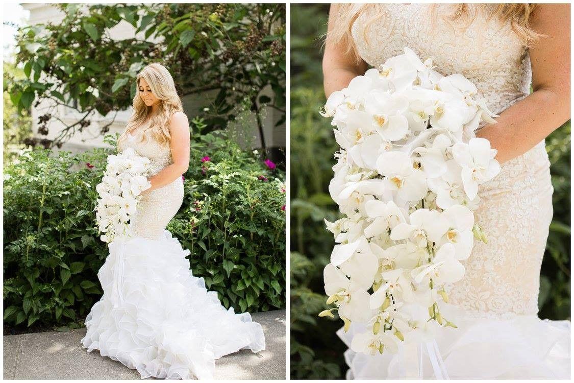 Blush mermaid wedding dress  Blush Tiered Trumpet Wedding Dress Tisha  Products  Pinterest