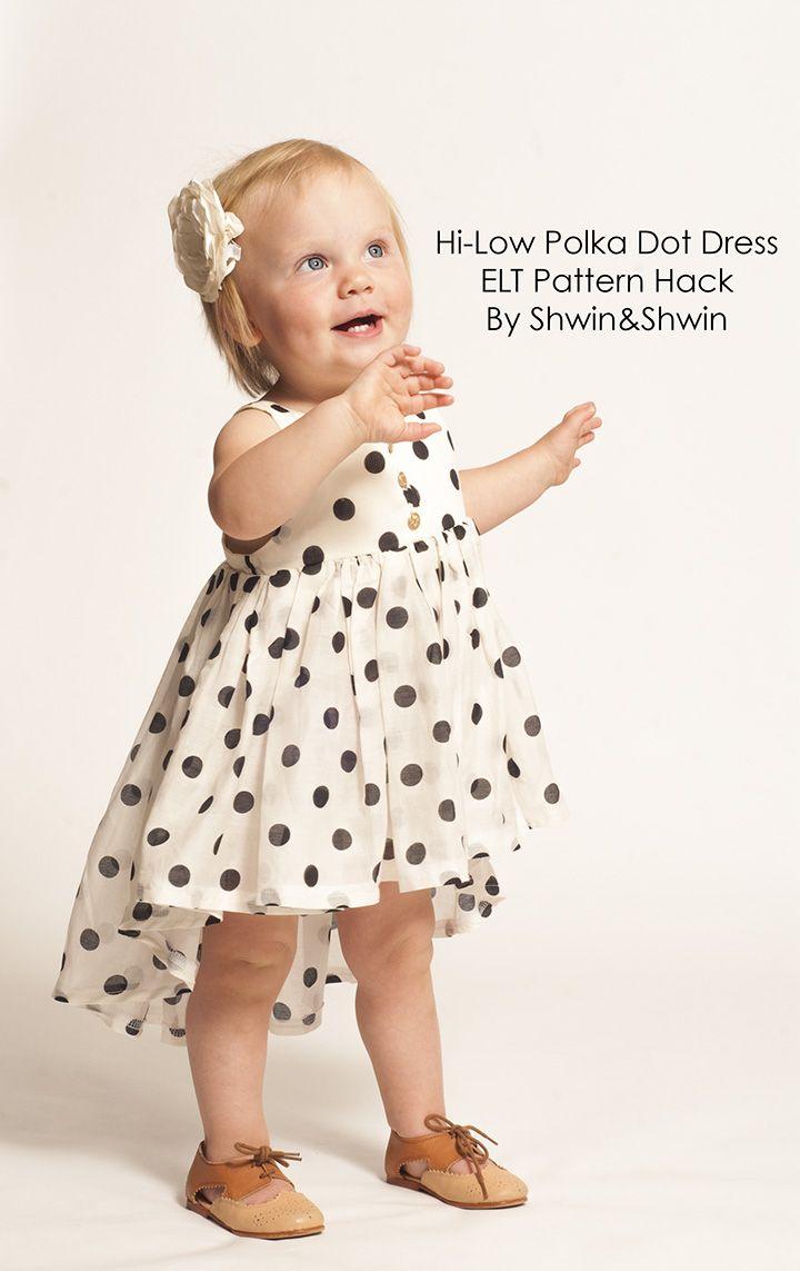 Shwin&Shwin: Hi-Low Polka Dot Dress Tutorial || Summer Collection ...