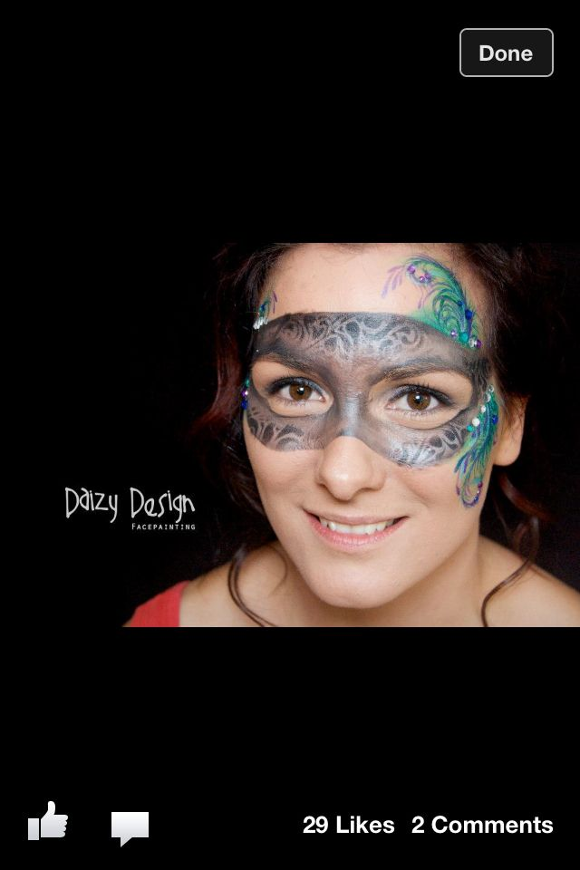 Face Painting Mask Face Painting Face Human Canvas