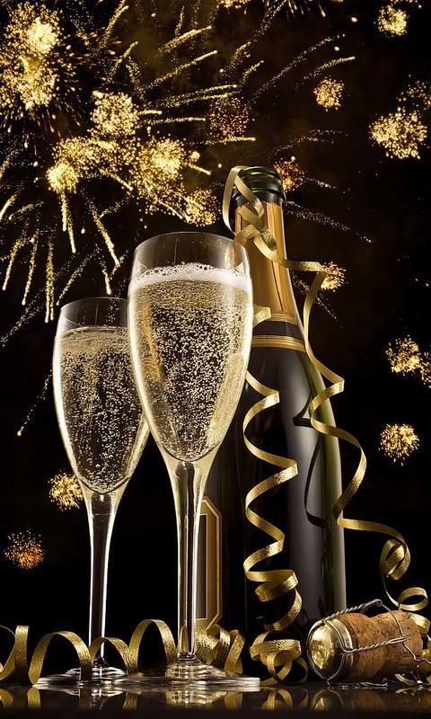 Открытка с днем шампанского, завтра жду