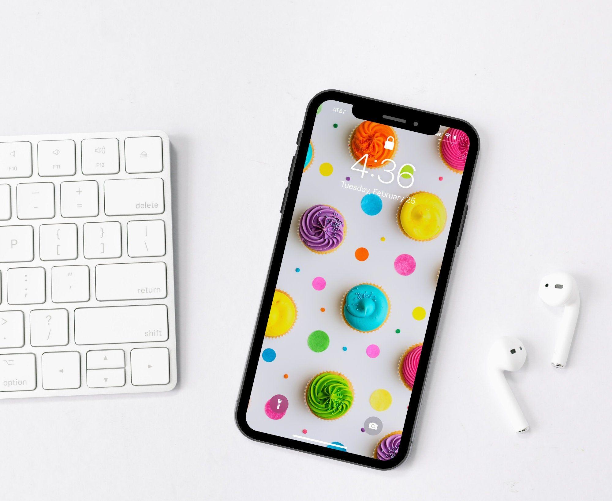 Rainbow Cupcake Wallpaper IPhone, Android, Smartphone