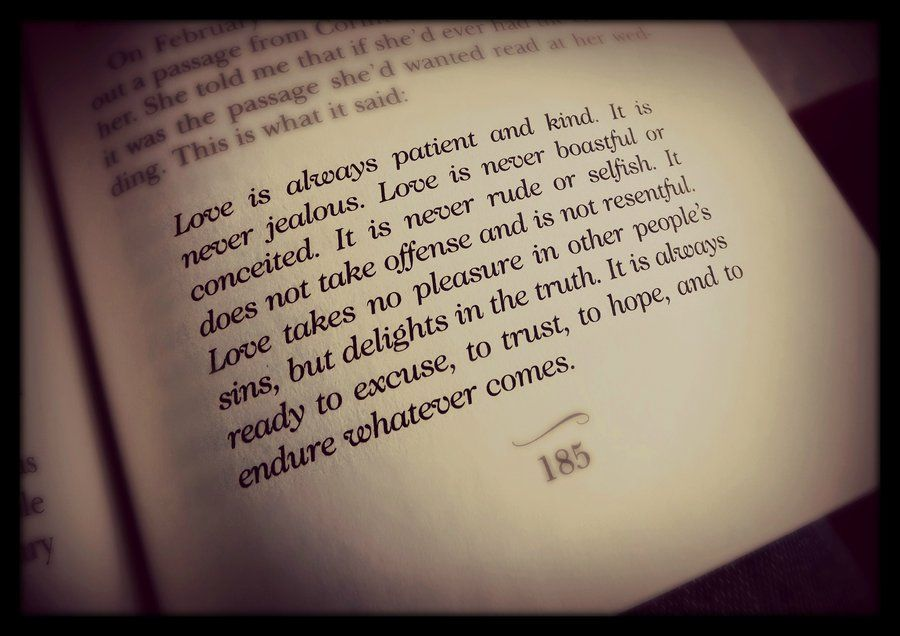 Wedding Reading Love Is Patient: Want This Read Or Printed Somewhere At My Wedding!!! A