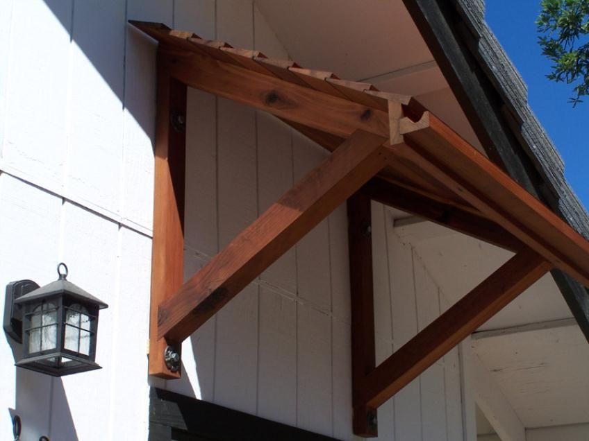 Door Canopy Plans Wood Awnings Craft Shack Pinterest Window