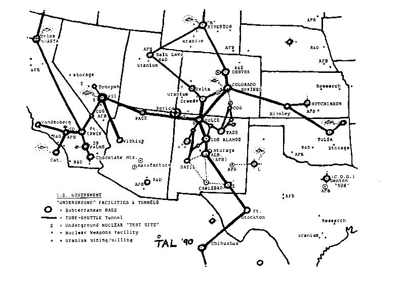 Map Of Underworlds Underground Tunnels Tunnels That Are Said To - Map of underground tunnels in the us