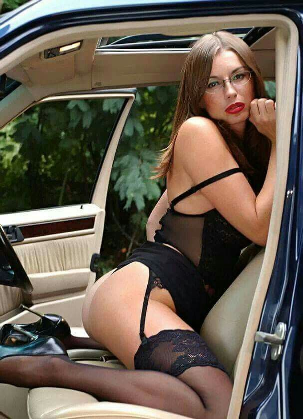 Sexy wife hot car
