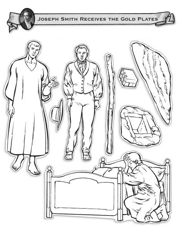 Joseph Smith Receive The Gold Plates Coloring Page Joseph Smith