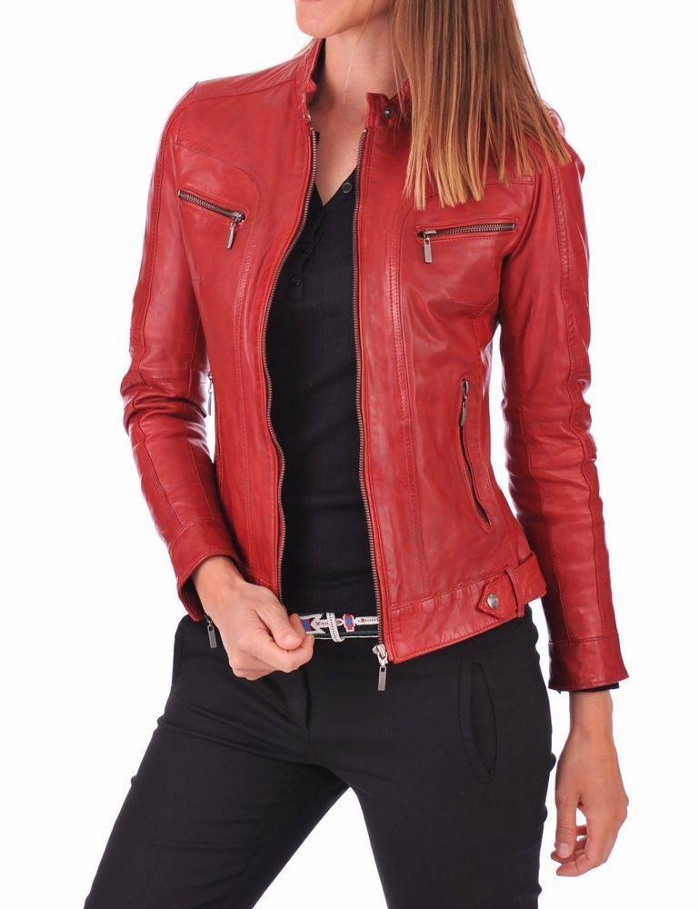 New Women/'s jackets motorcycle leather jacket Slim fashion coat overcoat