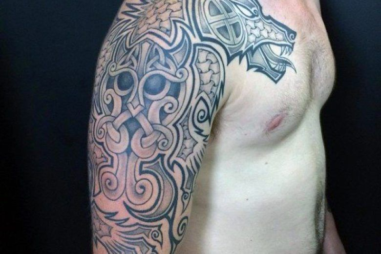 Image Result For German Tribal Norse Tattoos Norse Tattoo Tattoos Tribal Tattoos