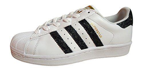 adidas Zapatillas de Piel Para Mujer White Black S79418 JUyUkX
