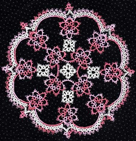 Pinwheel tatted doily pattern