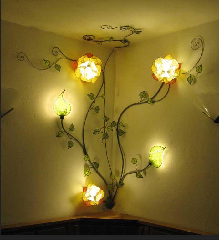 Custom Italian rose wall lamp