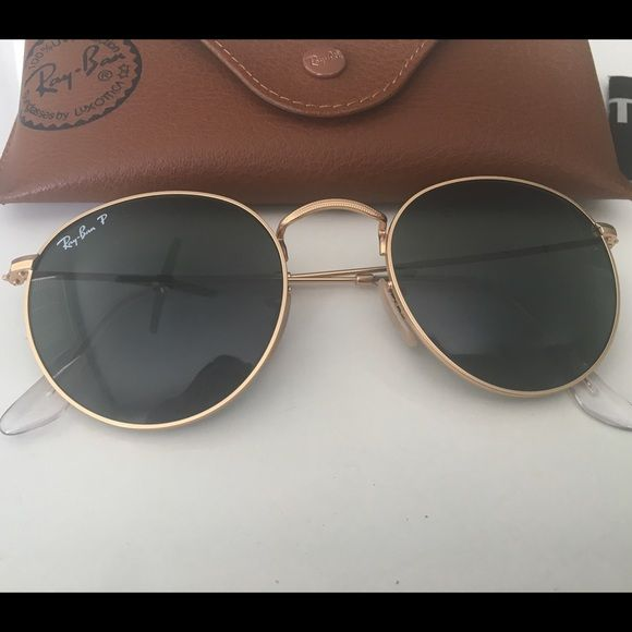 ray ban round metal sunglass hut