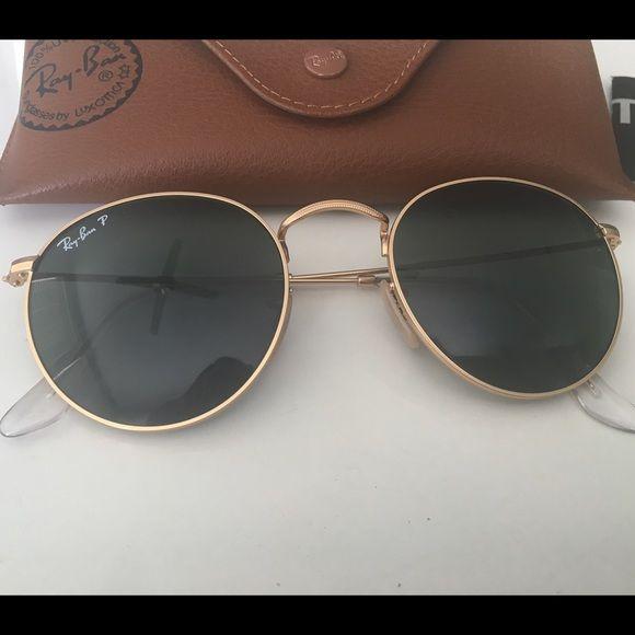 Polarized Ray Ban Rb3447 50 Round Metal Round Metal Sunglasses Round Metal Glasses Ray Ban Aviators Women