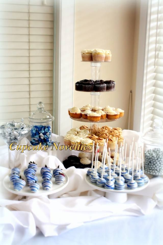 Fantastic A Dessert Buffet Dessert Bar In Royal Blue White Silver Download Free Architecture Designs Viewormadebymaigaardcom